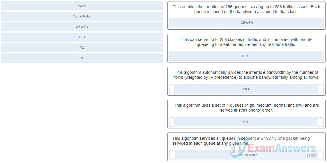 Chapters 13 - 14: Multicast and QoS Exam (Answers) 2