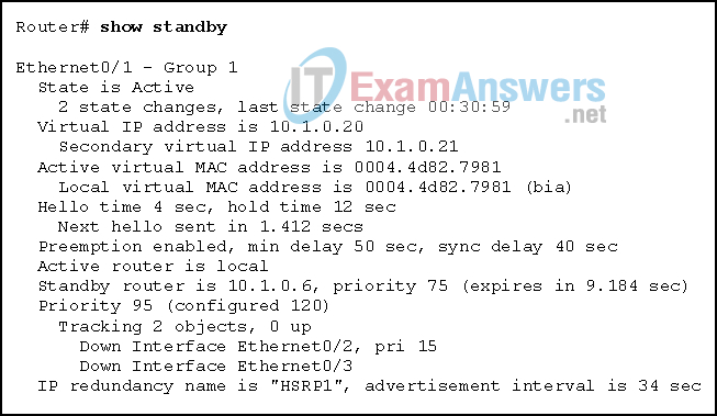 Chapters 15 - 16: IP Services and VPNs Exam (Answers) 9