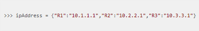 A student new to Python is working in the interactive interpreter mode. The student issues the command: Which Python expression can be used to retrieve the IP address of R2? 2