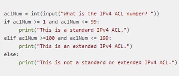 A student is learning Python and is reviewing a Python script as follows: Under which condition will the elif statement be evaluated? 2