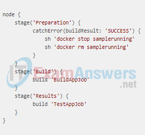 A network engineer is configuring a Jenkins job and finishing with the following script in order to trigger the build: After saving the job, what should the engineer do next? 2