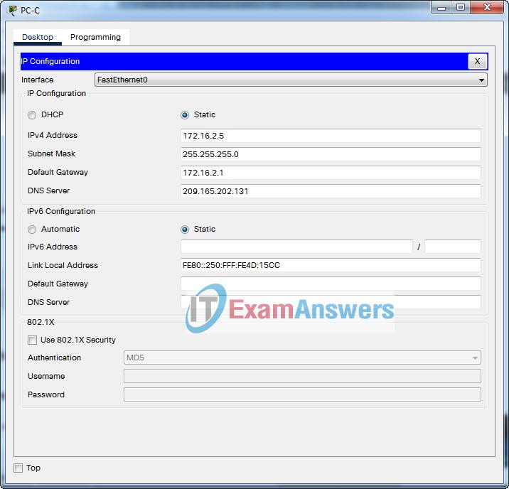 ENSA (Version 7.00) Final PT Skills Assessment Exam (PTSA) Answers 12
