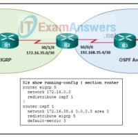 Chapters 15 - 17: Conditional Forwarding and Route Redistribution Exam Answers (CCNPv8 ENARSI) 11