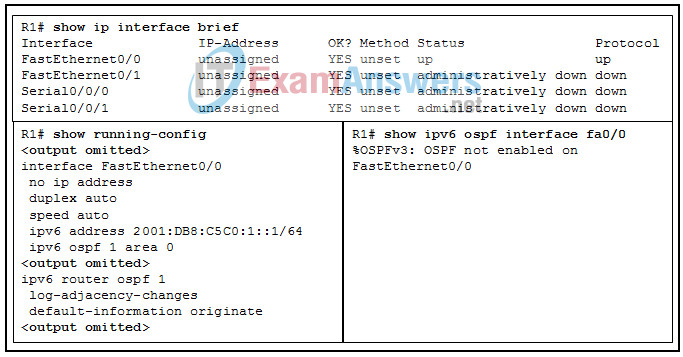Chapters 6 - 10: OSPF Exam Answers (CCNPv8 ENARSI) 7