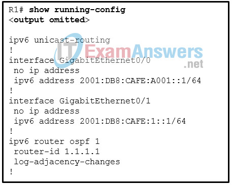 Chapters 6 - 10: OSPF Exam Answers (CCNPv8 ENARSI) 9