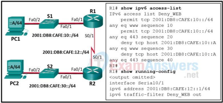Module 8: Quiz - Access Control Lists (Answers) Network Security 1