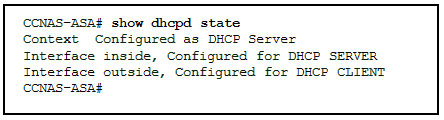 Refer to the exhibit. According to the command output, which three statements are true about the DHCP options entered on the ASA? (Choose three.) 2