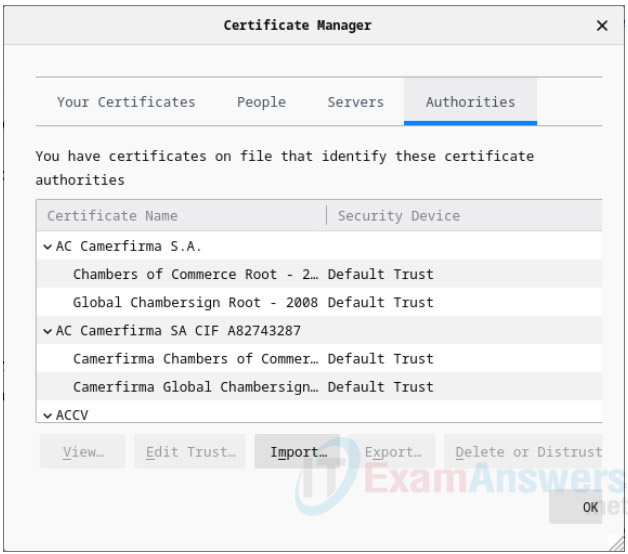 17.2.7 Lab - Certificate Authority Stores Answers 8